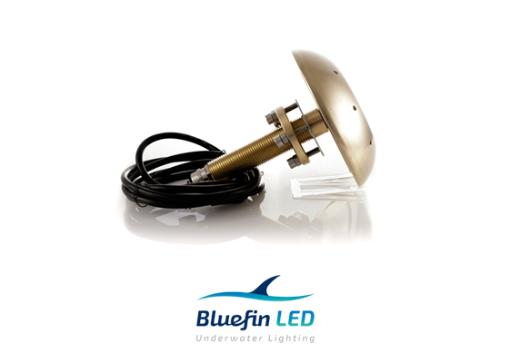 bluefinled underwater lights trhu hull manta ray