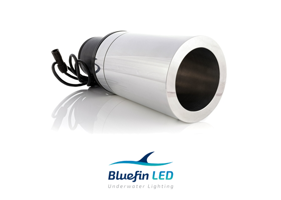 bluefinled superyacht underwater lights