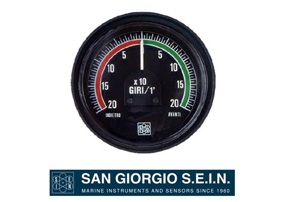 san giorgio propeller's revolution indicators